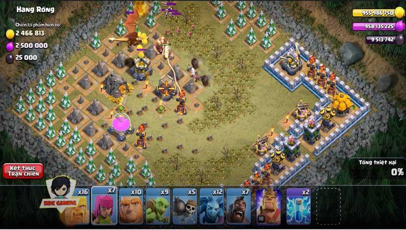 Clash of Clans MOD APK vô hạn tiền, vàng, dầu