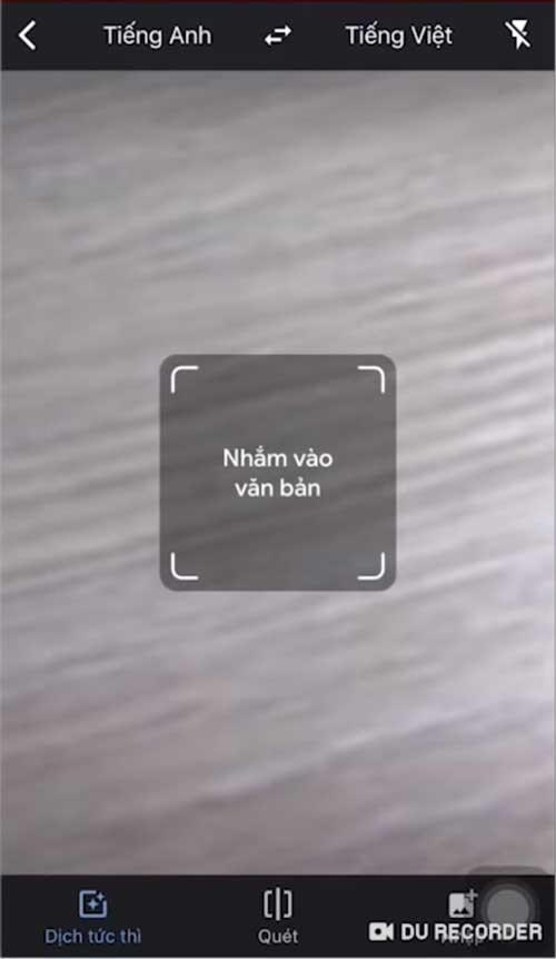 Google dịch hình ảnh bằng Camera điện thoại