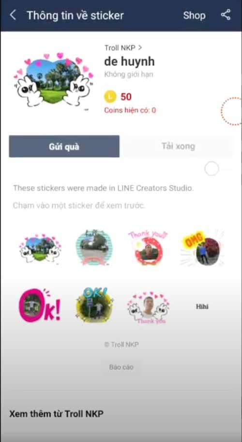 Tạo Sticker trong app Line
